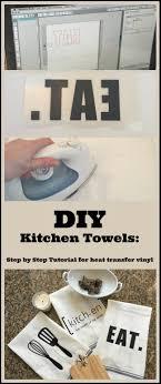 kitchen towel craft ideas diy custom kitchen towels a heat transfer image my