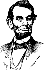 civil war clipart abraham lincoln pencil and in color civil war