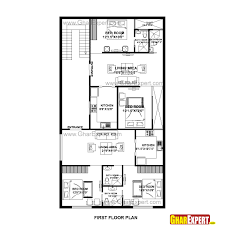 Shotgun House Plans Designs Floor Plan For Small 1 200 Sf House With 3 Bedrooms And 2