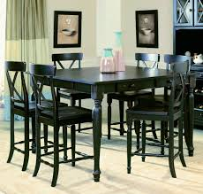 Easy On The Eye Black Counter Height Dining Table Sets Dining - Counter height dining table in black