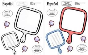spanish adjectives mirror sketch activity by sue summers tpt