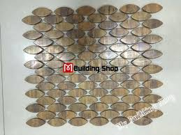 mosaic kitchen backsplash 3d metal mosaic kitchen wall tile backsplash smmt070 copper
