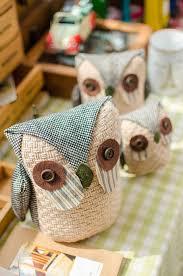 gift craft home decor aliexpress com buy 3pcs lot cloth art jute owl figurine