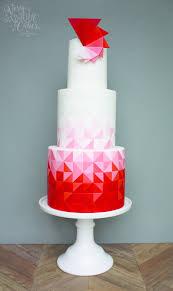 unique cakes ombre geometric cake cake masters magazine may 2016 satin