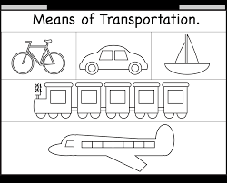 means of transportation u2013 worksheet free printable worksheets