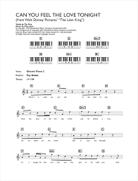 can you feel the love tonight from the lion king sheet music by