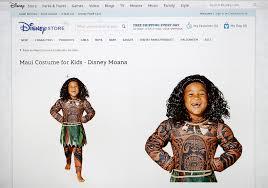 disney stops selling controversial u0027moana u0027 halloween costume time