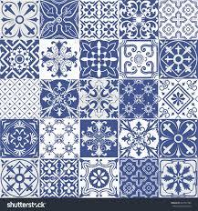 big vector set tiles background wallpaper stock vector 483707380