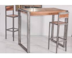 tables hautes de cuisine table haute pour cuisine table haute 115 cm cerclage metal en u