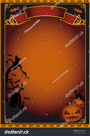 halloween photo background halloween poster background on halloween theme stock illustration