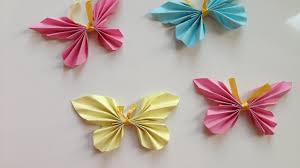 how to make easy paper butterflies origami paper crafts kids