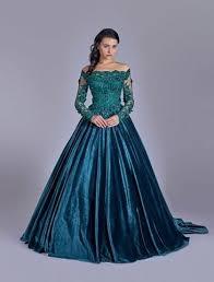 engagement dresses 2017 three dimensional heavy beaded lace velvet engagement dress