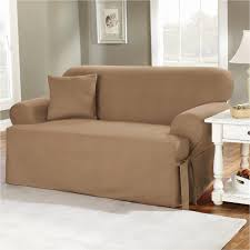 Ebay Sofa Slipcovers by Sure Fit Stretch Plush Black T Cushion Sofa Slipcover Ebay