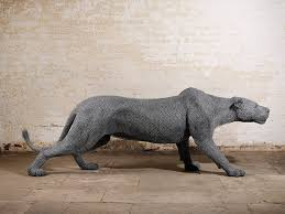 lioness sculpture kendra haste animal wire sculpture stalking lioness moments journal