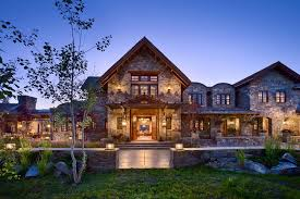 a dream home in big sky with rustic mountain style