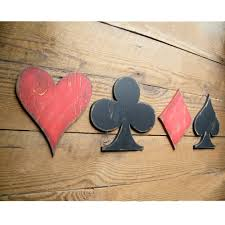 card symbols sign game room signs heart club diamond spade 56 00