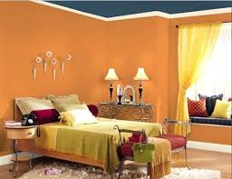 Bedroom Walls Paint 154 Best Orange U0026 Blue Rooms Images On Pinterest Blue Rooms