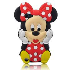 cute 3d cartoon mouse silicone case cover apple ipod touch 5th
