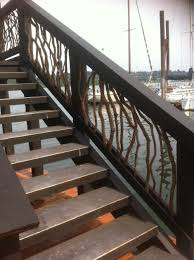 house boat timber frame railing