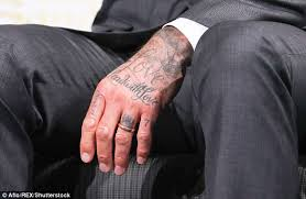 david beckham debuts new number seven tattoo in japan daily mail