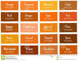 shades of orange shades of orange color chart prepossessing it u0027s