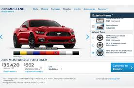 how much is a 2015 ford mustang 2015 ford mustang configurator is live motor trend wot
