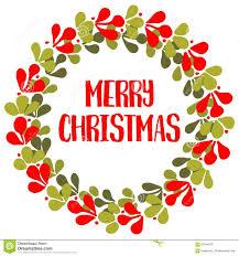 vector card wreath merry christmas wishes stock vector