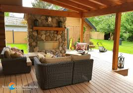 featured outdoor living space trex composite deck construction