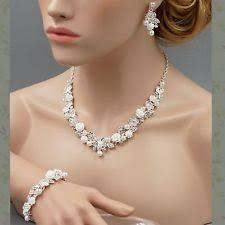wedding jewelry pearl jewelry set ebay