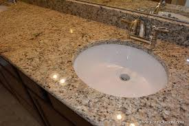 how to install undermount bathroom sink granite image