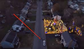 top 10 christmas light displays in us drone captures incredible christmas lights display watch best