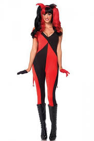harley quinn jumpsuit womens color block harley quinn jumpsuit costume