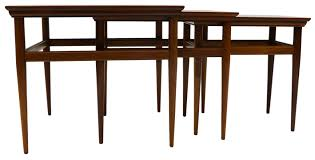 Nesting Dining Table Mid Century Modern Nesting Tables By Heritage