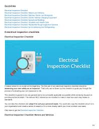 8 electrical inspection checklists to keep your workspaces safe