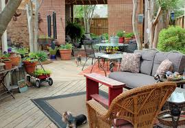 backyard decorating ideas combined with modern iron dining set and