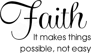 religious quotes vinyl wall decals faith makes things possible