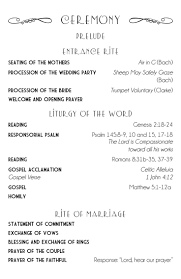 sle of wedding programs ceremony order of service for a wedding ceremony template wedding ideas 2018