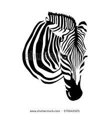 zebra seamless patternsavannah animal ornament stock vector