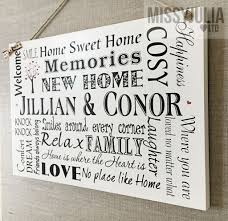 plaque new home gift housewarming personalised sign keepsake w58