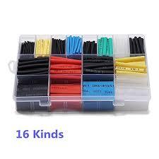 amazon com ginsco 580 pcs 2 1 heat shrink tube 6 colors 11 sizes