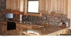 Rusty Brown Slate Mosaic Backsplash Tile For Traditional Kitchen - Slate kitchen backsplash