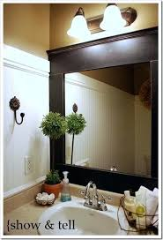 Framing A Bathroom Mirror Large Framed Bathroom Mirrors Pictures For The Bathroom Framed