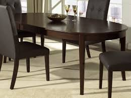 oval dining room tables furniture vintage dark wooden table combined leather upholstered