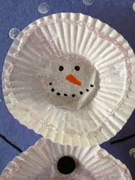 be brave keep going easy cupcake liner snowman craft for kids