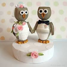 owl wedding cake topper quilly nilly owl you forever wedding cake topper