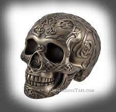 skull celtic knot work bronze finish tl3236000270 64 00 skull celtic knot work bronze finish larger image