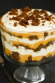 pumpkin gingerbread trifle recipe thanksgiving recipes