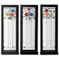 frank lloyd wright art glass window stained glass art panel