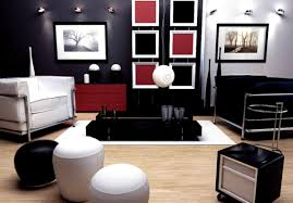 White Apartments Apartments Cool Black Red And Living Room Designs White Fur Rug