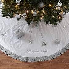 white tree skirt personalized christmas tree skirt season s sparkle